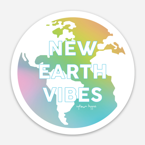 New Earth Vibes Sticker