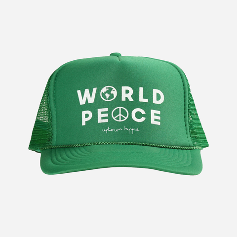 Green World Peace Hat