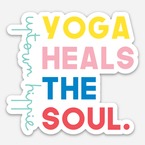 Yoga Heals The Soul Sticker