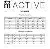 M-ACTIVE SIZE GUIDE