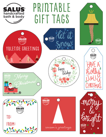 SALUS Holiday Gift Tags