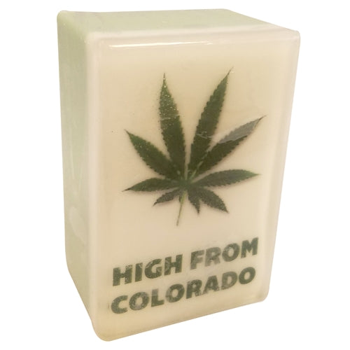 High From Colorado Hemp Leaf Photo Soap