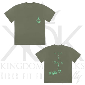 Travis Scott Highest In The Room Tee Olive