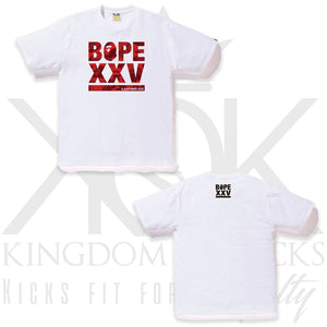 Bape Cities Camo XXV logo Tee White