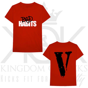 Vlone Nav Bad Habits Drip Tee Red