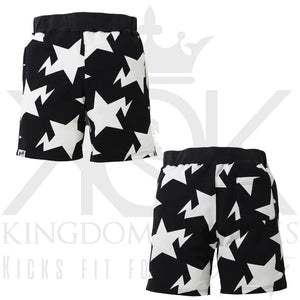 Bape Star Shorts Black/White