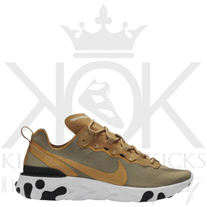 Nike React Element 55 Metallic Gold