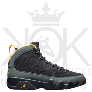 Air Jordan 9 Dark Charcoal University Gold