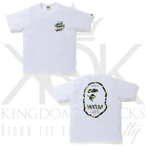 Bape Green World Gone Mad Tee White