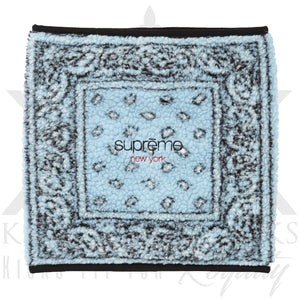 Supreme Bandana Fleece Neck Gaiter Blue