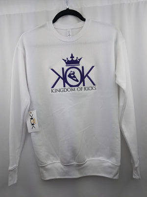 KOK White/Purple Crew Embroidered