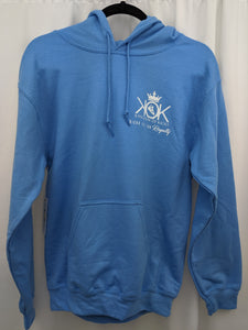 KOK Light Blue White Logo Hoodie