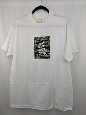 Anti Social Club Tiger Camo White Tee