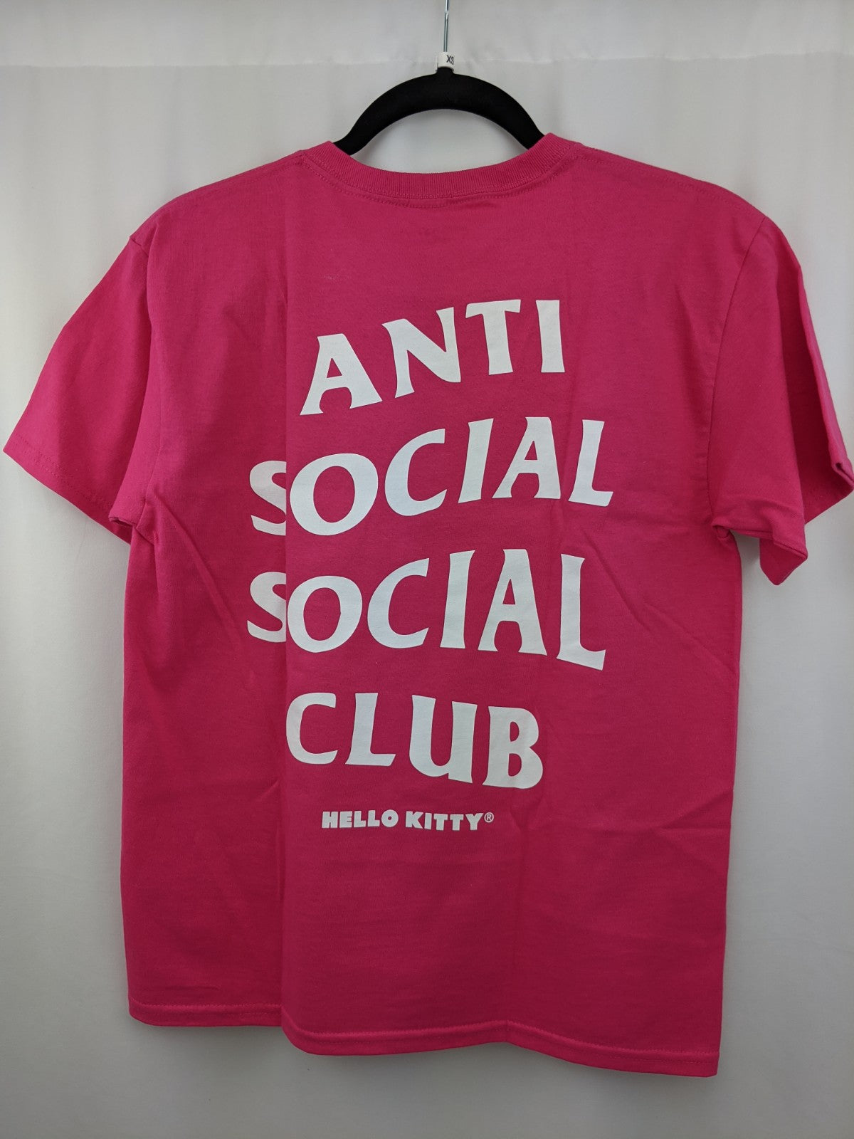 Anti Social Club X Hello Kitty Logo Pink Tee