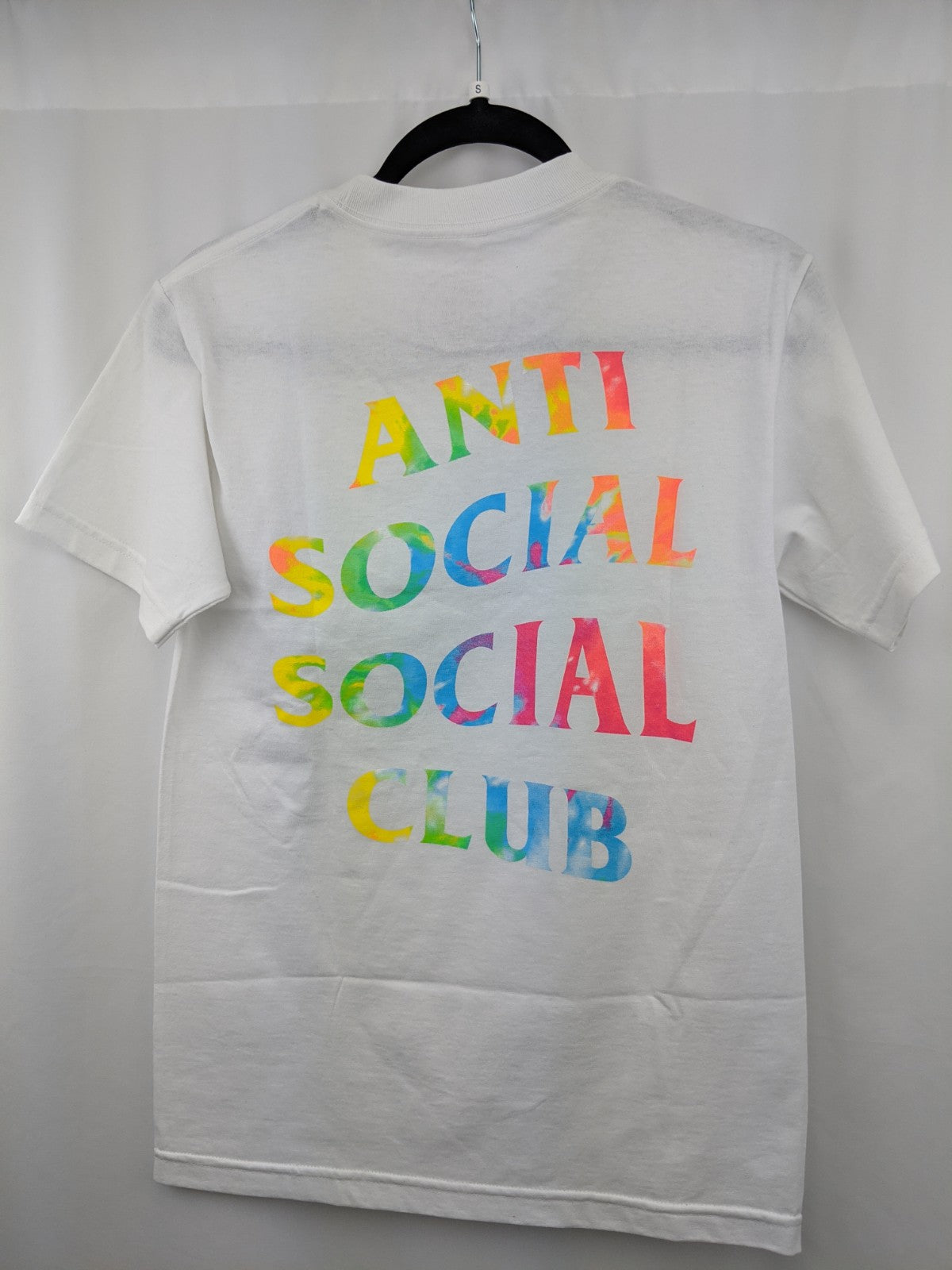 Anti Social Club Tie Die Logo White Tee