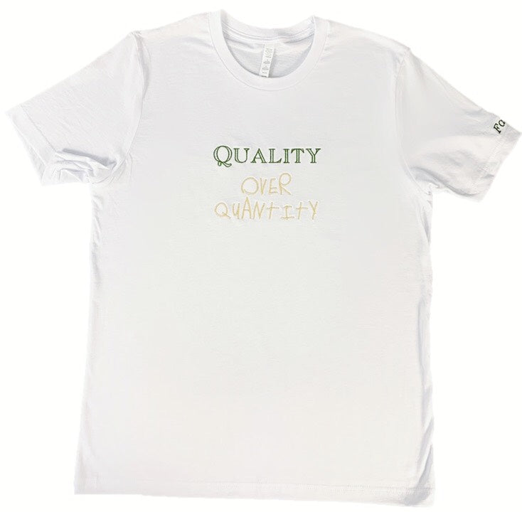 Fauset QoQ White/Green/Gold Tee