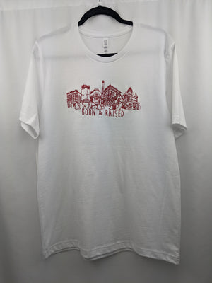 KOK Born & Raised White/Red Tee Embroidered