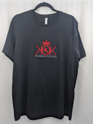 KOK Black/Red Logo Tee Embroidered