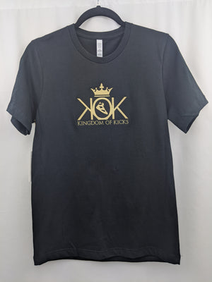 KOK Black/Metallic Gold Logo Tee Embroidered