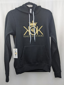 KOK Black/Metallic Gold Hoodie Embroidered