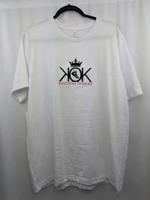 KOK White Black/Red Logo Tee Embroidered