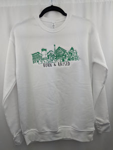 KOK Born & Raised White/Green Crew Embroidered