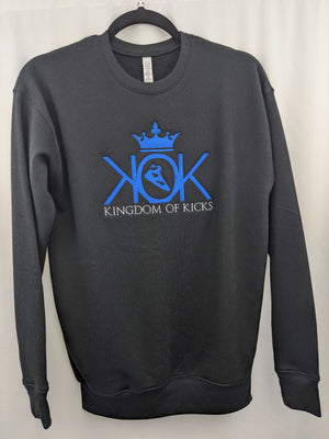 KOK Royal Blue/Black Crew Embroidered