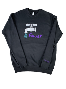 Fauset Star Drip Black/Purple Crew