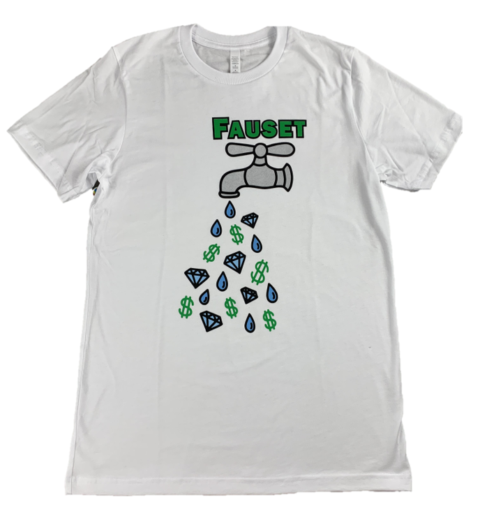 Fauset Big Money Drip White Tee
