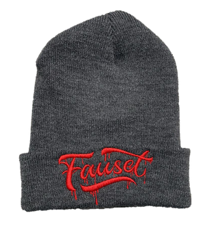 Fauset Beanie Gray/Red