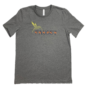 Fauset Flower Tee Grey/Orange