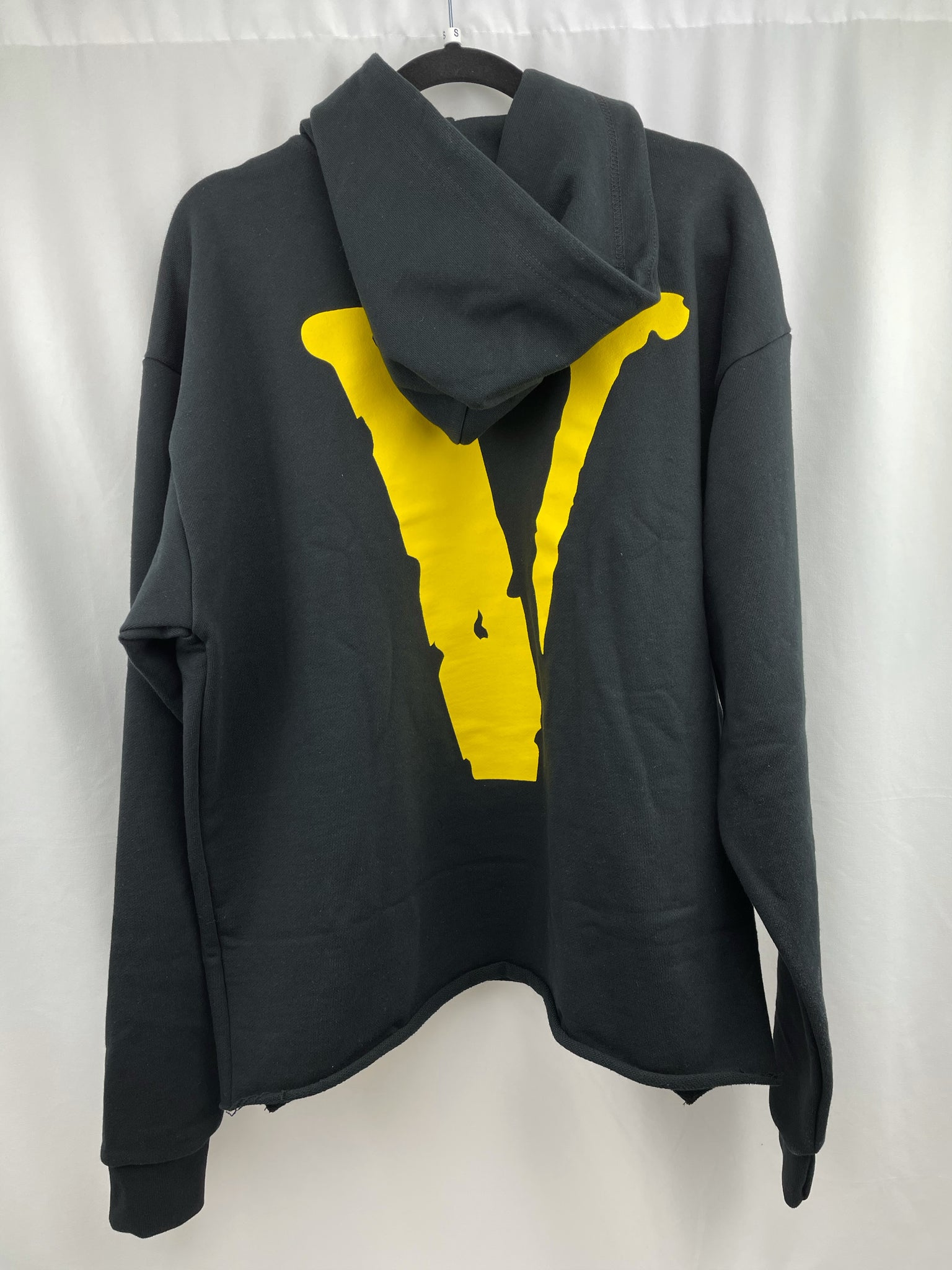 Vlone Yellow Friends Hoodie Black