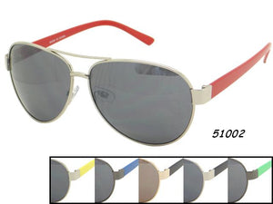 Unisex Wholesale Trendy Colored Armband Aviator Sunglasses 1 Dozen 51002 - BuyWholesaleSunglasses.com