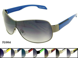 Mens Wholesale Metal Sports Sunglasses 1 Dozen 51004 - BuyWholesaleSunglasses.com