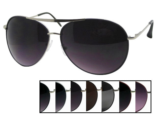 Unisex Wholesale Aviator Fashioable Sunglasses 1 Dozen 5108PR - BuyWholesaleSunglasses.com