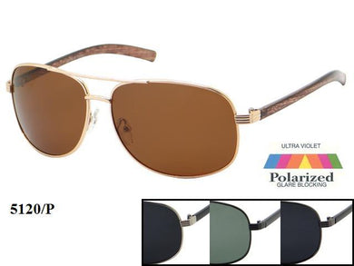 Mens Wholesale Polarized Aviators Fashionable Sunglasses 1 Dozen 5120P - BuyWholesaleSunglasses.com