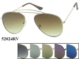 Unisex Wholesale Metal Aviator Sunglasses 52024RV - BuyWholesaleSunglasses.com