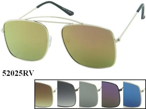 Unisex Wholesale Hipster Aviator Square Revo Lens Sunglasses 52025RV