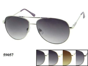 Mens Wholesale Metal Frame Aviator Sunglasses 1 Dozen 59057 - BuyWholesaleSunglasses.com