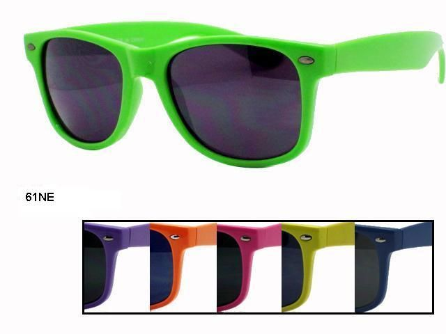 Unisex Wholesale Solid Color Wayfarer Sunglasses 61NE