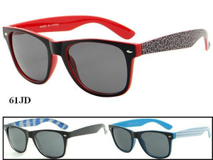 Unisex Wholesale Trendy Armband Two Toned Frame Wayfarer Sunglasses 61JD - BuyWholesaleSunglasses.com