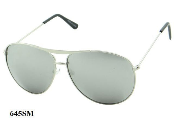 Unisex Wholesale Aviator Mirror Lens Metal Sunglasses 645SM - BuyWholesaleSunglasses.com