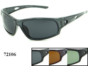 Mens Wholesale Fashionable Wrap Sport Plastic Sunglasses 1 Dozen 72106 - BuyWholesaleSunglasses.com
