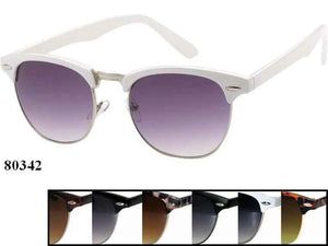 Unisex Wholesale Assorted Color Wayfarer Circular Lens Sunglasses 1 Dozen 80342