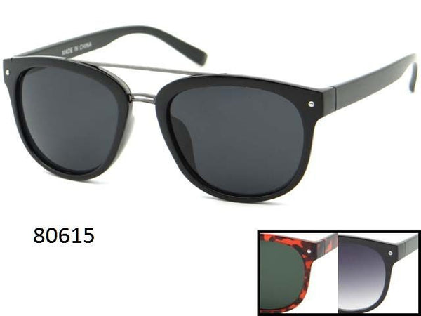 Womens Wholesale Trendy Brow Bar Fashionable Sunglasses 1 Dozen 80615 - BuyWholesaleSunglasses.com