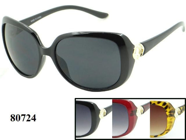 Womens Wholesale Fashionable Big Lens Sunglasses 1 Dozen 80724 - BuyWholesaleSunglasses.com