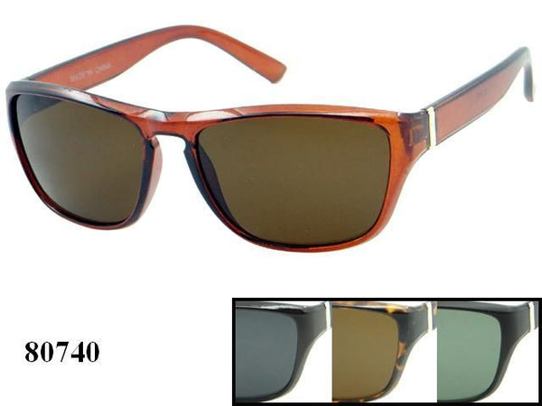Unisex Wholesale Fashionable Plastic Sunglasses 1 Dozen 80740 - BuyWholesaleSunglasses.com