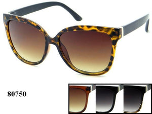 Womens Wholesale Fashionable Cat Eye Lens Plastic Sunglasses 1 Dozen 80750 - BuyWholesaleSunglasses.com