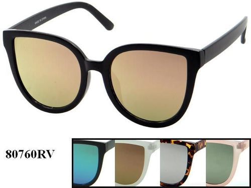 Womens Wholesale Hipster Revo Cat Eye Lens Plastic Sunglasses 1 Dozen 80760RV - BuyWholesaleSunglasses.com