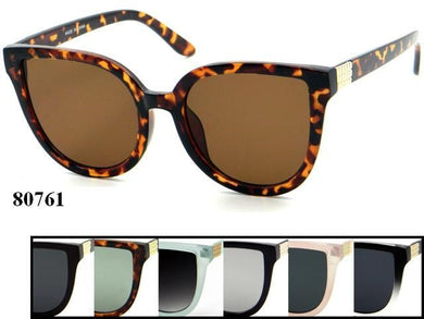 Womens Wholesale Trendy Cat Eye Lens Assorted Color Plastic Sunglasses 1 Dozen 80761 - BuyWholesaleSunglasses.com